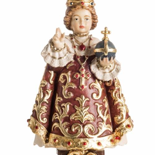 Infant of Prague wooden statue painted s8