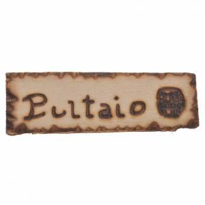 Accessori presepe per casa: Insegna Bottaio legno per presepe 2,5x9 cm