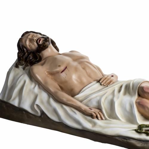 Jésus mort 140 cm fibre de verre colorée s8