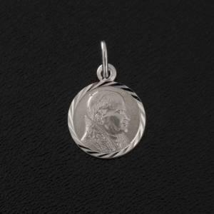 Anhänger, Kreuze, Broschen: Medaille Johannes Paul II Silber 925 Durchmesser 1 cm