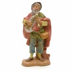 Joueur de cornemuse vieux crèche Fontanini 12 cm s1