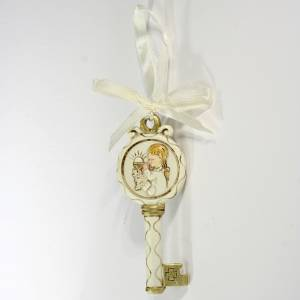 Key ribbon Girl First Communion 10cm s1