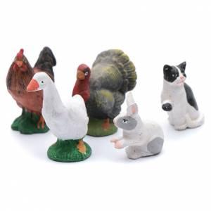 Neapolitan Nativity Scene: Kit with 5 animal items for DIY nativity scene 12 cm
