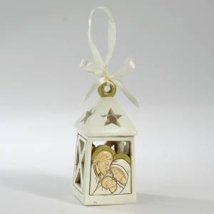 Bonbonniere: Kleine Geschenk Hochzeit LED Lanterne Heilige Familie 10cm
