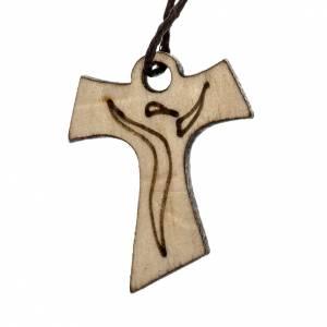 Erstkommunion Alben: Kreuz Erstkommunion aus Holz Tau, 3,3x2,4cm.
