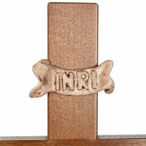 Vortragekreuze und Ständer: Kreuz mit Stange Nussbaumholz