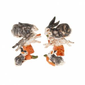 Zwierzęta do szopki: Króliki do szopki 10 cm 6 sztuk