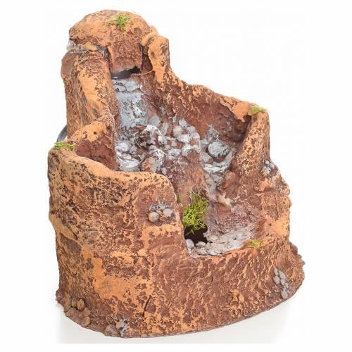 laghetto in resina con cascata per presepe 16x18x15 cm ForLaghetto Resina