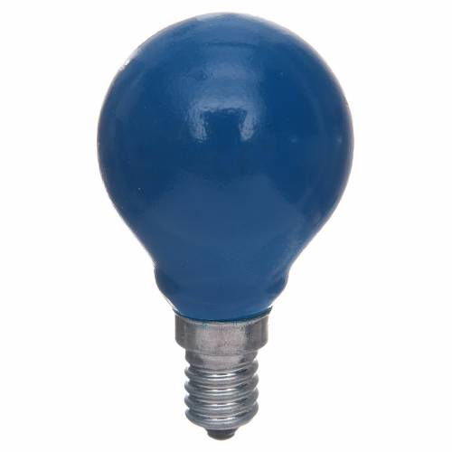 Lampada a sfera E14 25W Blu s1