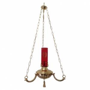 Lampada a sospensione ottone fuso diametro 40 cm   s1