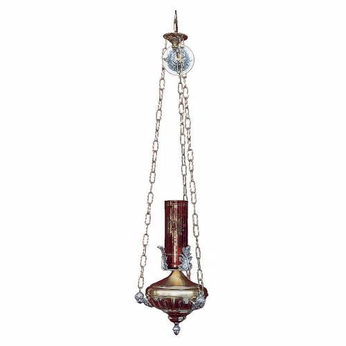 Lampada a sospensione Santissimo 14 cm ottone angeli s1