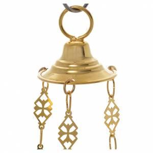 Lampada Santissimo Ortodossa ottone dorato cm 14x12 s5