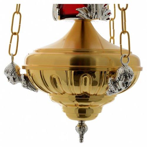 Lampadaire à suspendre Sanctuaire 20 cm laiton anges s5