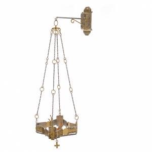Lampe de sanctuaire à suspendre h. 80 cm s1