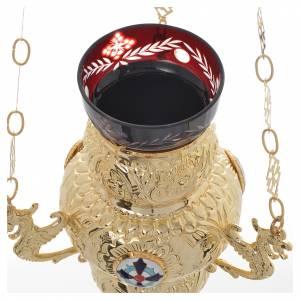 Lampe de Très-Saint-Sacrement orthodoxe 19x9 cm s6