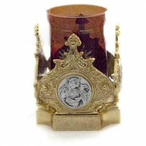Lampes de Sanctuaire: Lampe Saint-Sacrement laiton moulé doré 11x11 cm