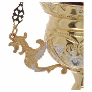 Lampe Très-Saint-Sacrement orthodoxe dorée 15x15 cm s3