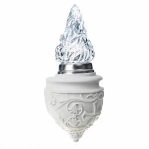 Lanterne de columbarium avec flamme marbre synthétique s3