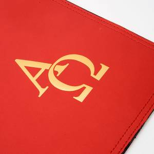 Leather Lectionary slipcase with alpha and omega s5