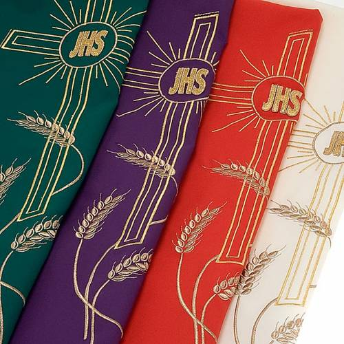 Lectern cover golden embroideries spikes, cross and JHS s6