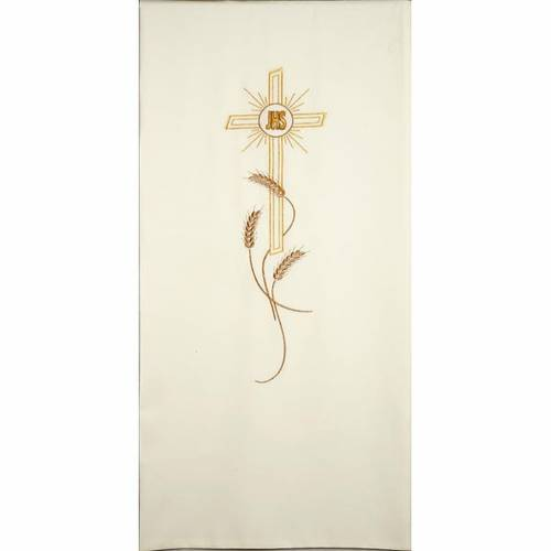 Lectern cover golden embroideries spikes, cross and JHS s4