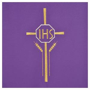 Lectern Cover in polyester with IHS, cross, ears of wheat s6