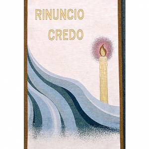 Lectern covers: Lectern Cover, Rinuncio Credo, purple or white background