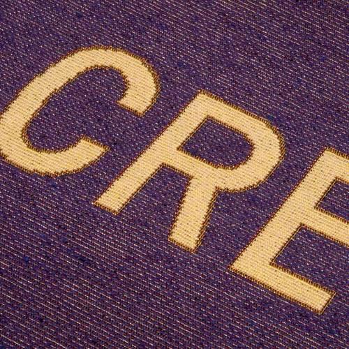 Lectern Cover, Rinuncio Credo, purple or white background s6