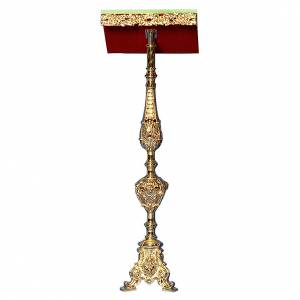 Lecterns: Lectern in 24K gold plated cast brass, baroque style