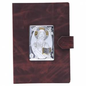 Lectionary covers: Lectionary cover, silver leather