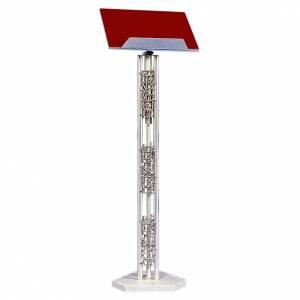 Leggii a colonna: Leggio 103 cm ottone fuso base in marmo