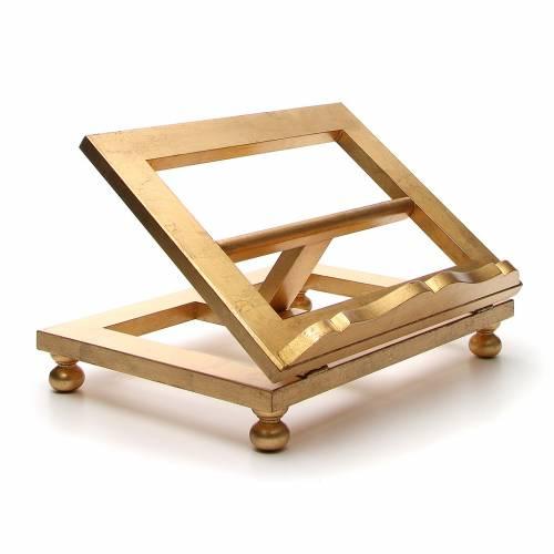 Leggio da tavolo foglia oro 35x40 cm s4