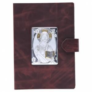 Deckel für Lektionar: Lektionareinband Silber Leder