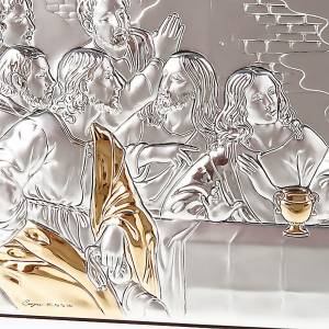 Leonardo's Last Supper bas relief gold/silver s4
