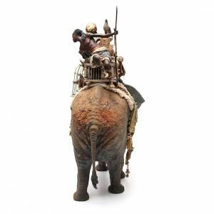 Éléphant avec Roi et serviteur crèche Angela Tripi 30 cm s3