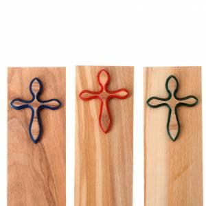 Lesezeichen: Lesezeichen aus Holz mit Kreuz