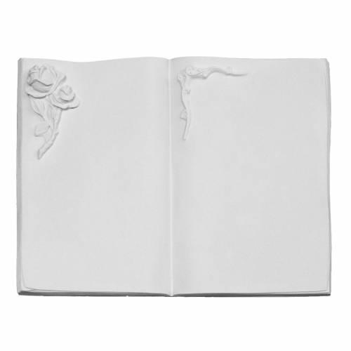 Libro targa per cimiteri marmo sintetico rosa s1