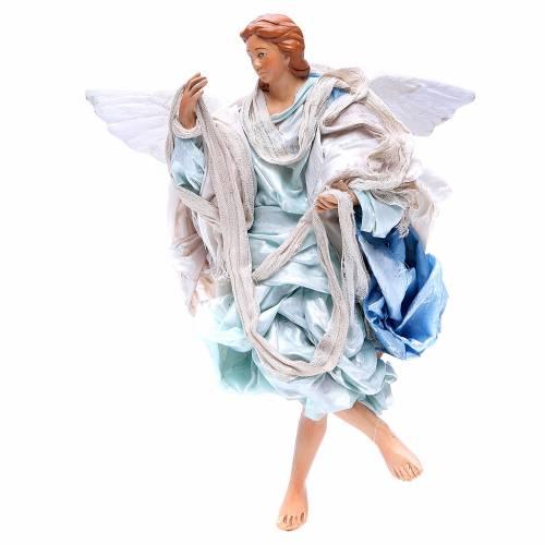 Light blue angel, figurine for Neapolitan Nativity, 30cm s1
