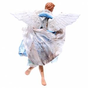 Light blue angel, figurine for Neapolitan Nativity, 30cm s2
