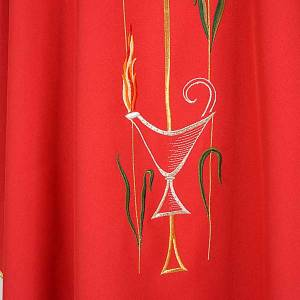 Liturgical chasuble with cross, grapes and lamp s5