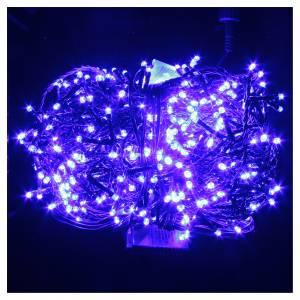 Luce Natale catena 600 LED blu ESTERNO programmabili s2