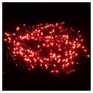 Luce Natale catena 600 LED rosse ESTERNO programmabili s2