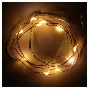 Luces de Navidad 10 LED tipo gota color blanco cálido con baterías s2