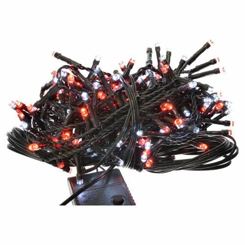 Luces de Navidad 180 LED blanco hielo y rojas programables s1