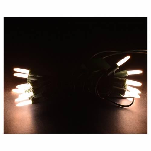 Luces de Navidad 20 LED blanco cálido tipo Arroz para interior s2