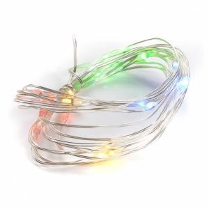 Luces de Navidad 20 LED multicolor cable de cobre sin aislamiento para interior s1