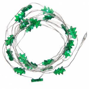 Luces de Navidad: Luces de Navidad 20 LED verdes cable de cobre sin aislamiento para interior