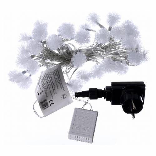 Luci fiocco di neve 40 LED  bianco caldo programmabili corrente s4