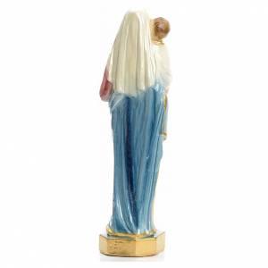 Madonna con bambin Gesù 25 cm gesso madreperlato s3