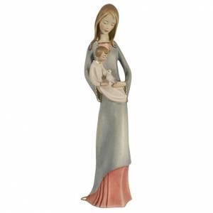 Statue in legno dipinto: Madonna con bambino e colomba legno dipinto Valgardena